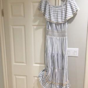 Calypso St. Barth striped midi dress